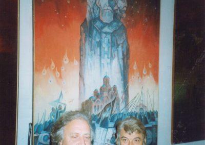 Cu pictorul Milici Din Maciva, La Belgrad 1995