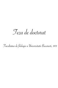 Influențe străine în opera literară a lui Lucian Blaga, 1971