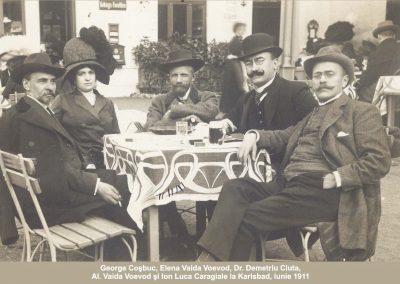 Al. Vaida Voevod, I.L. Caragiale, George Coșbuc, Elena Vaida Voevod, dr. Ciuta