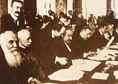 Al. Vaida Voevod și I.C. Brătianu la CONFERINȚA de Pace, Paris - Versailles, 1919-1920.